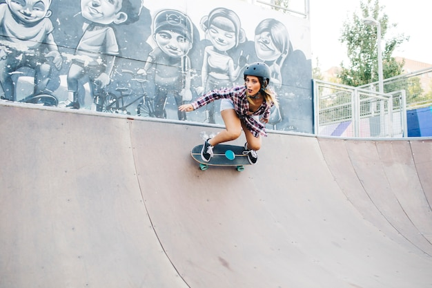 Cool skater woman