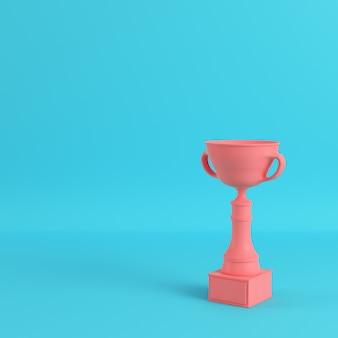 Copa do troféu em fundo azul brilhante