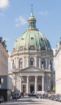 Copenhaga, dinamarca - 23 de agosto de 2017: igreja de frederik ou igreja de mármore