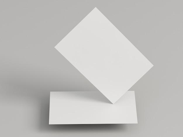 Cópia corporativa em branco, cartões de visita com ângulos abstratos