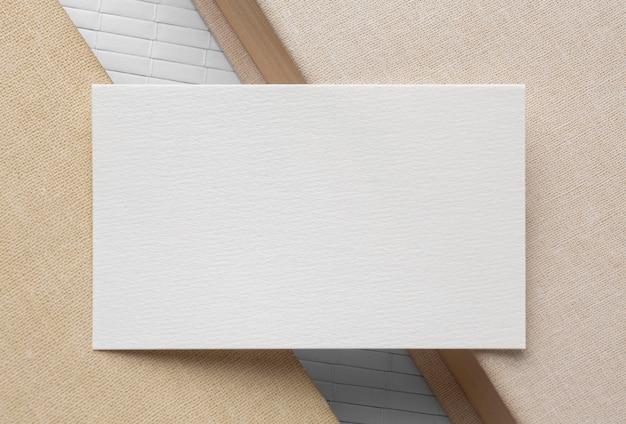 Cópia corporativa em branco cartões de visita flat lay