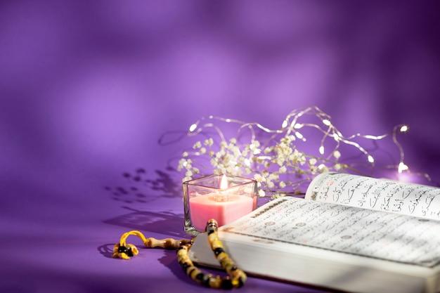 Cópia espaço espiritual árabe arragement