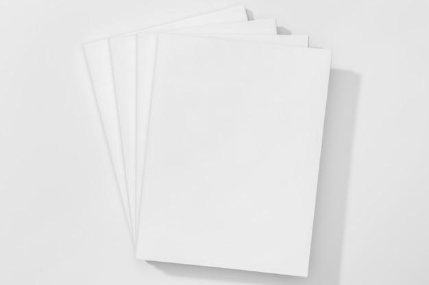 Copie as páginas de espaço da vista superior do livro
