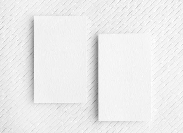 Copie cartões de visita de espaço em fundo branco