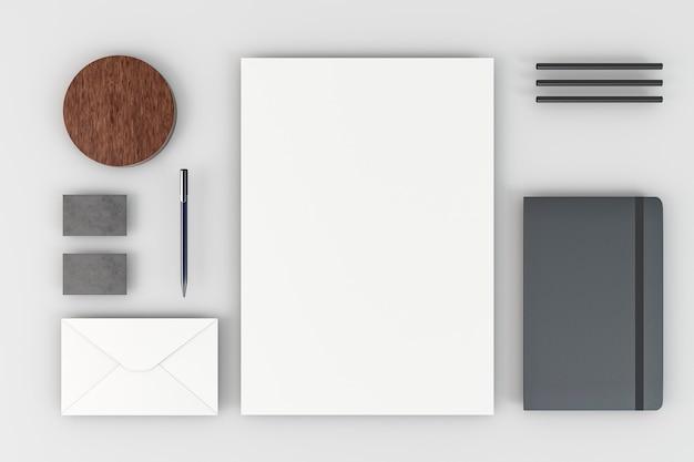 Copie documentos e lápis de papelaria do espaço