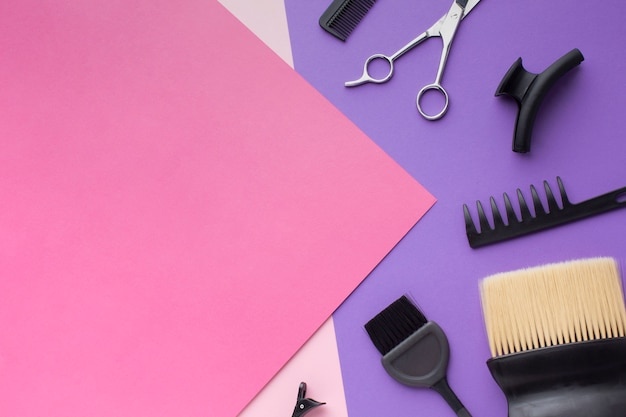 Copie o espaço com acessórios para o cabelo