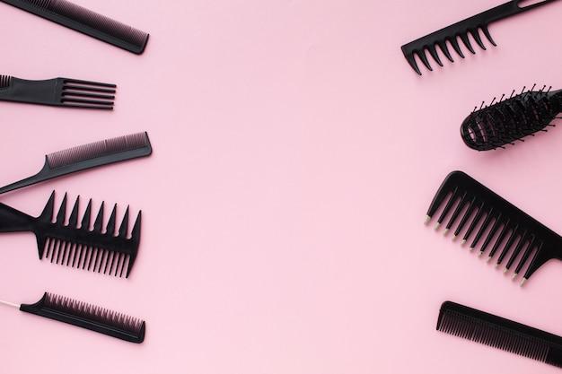Copie o espaço com ferramentas profissionais para o cabelo