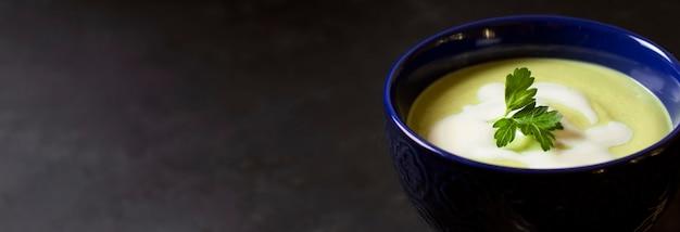 Copie o espaço da sopa de comida de inverno