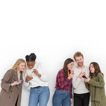Copie o espaço de amigos usando dispositivos