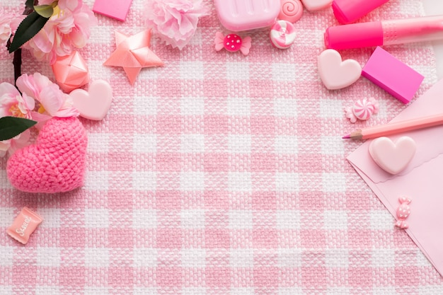Copie o espaço para o texto no fundo da celebração do feriado do dia de valentim.