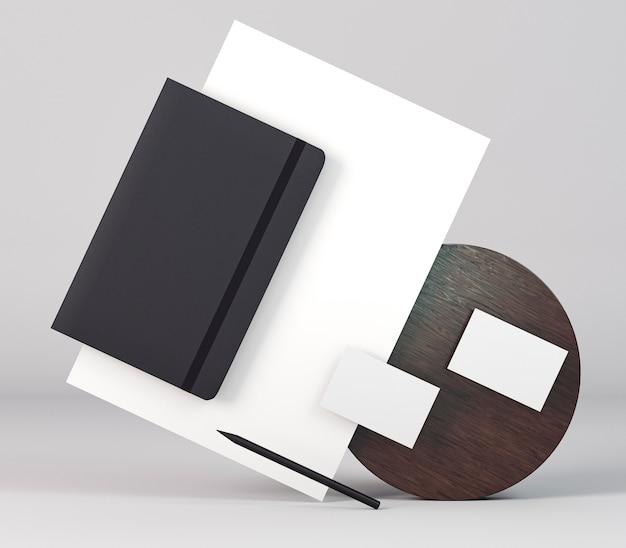 Copie o resumo de documentos de papelaria do espaço