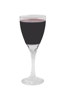 Copo com vinho tinto isolado no fundo branco