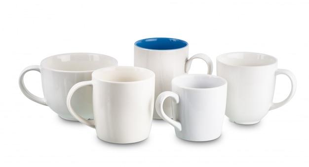 Copo de café branco isolado isolado