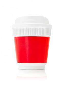 Copo de café de embalagem em branco para ir isolado