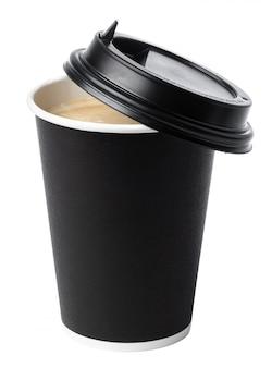 Copo de café isolado em papel