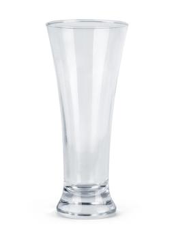 Copo de cerveja vazio. isolado em fundo branco