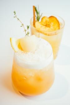 Copo de lichis de cocktails congelados