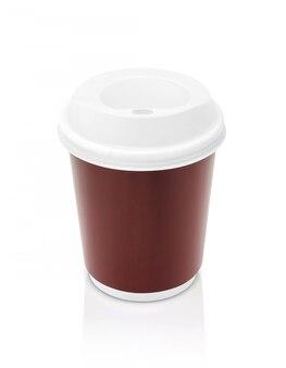 Copo de papel para café isolado