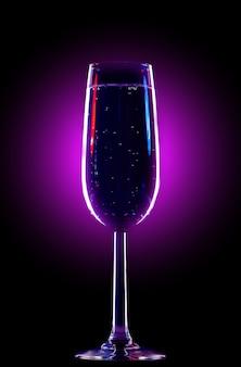 Copo elegante perfeito para o champanhe