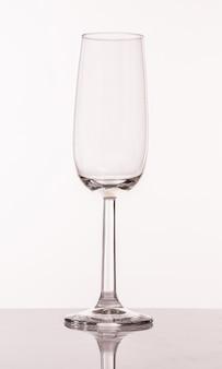 Copo transparente para champanhe