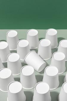 Copos de papel bio papelão cópia espaço
