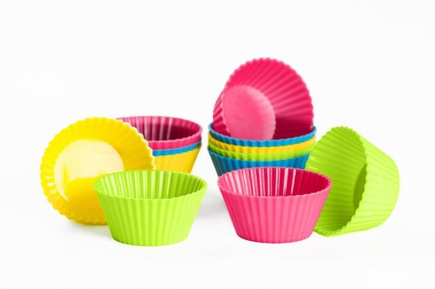 Copos de silicone para assar cupcakes ou bolos