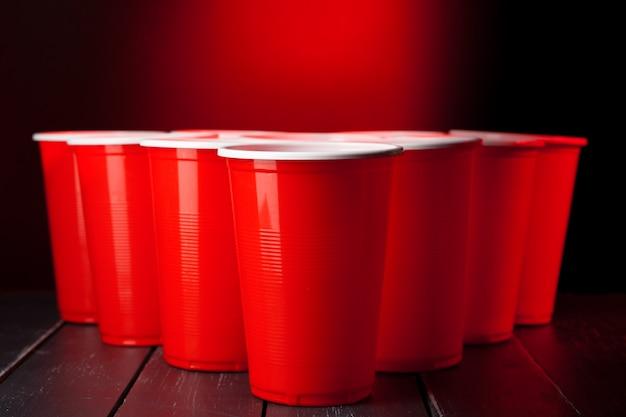 Copos para cerveja pong