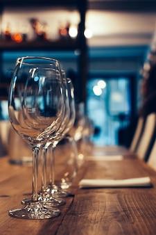 Copos para degustação de vinhos