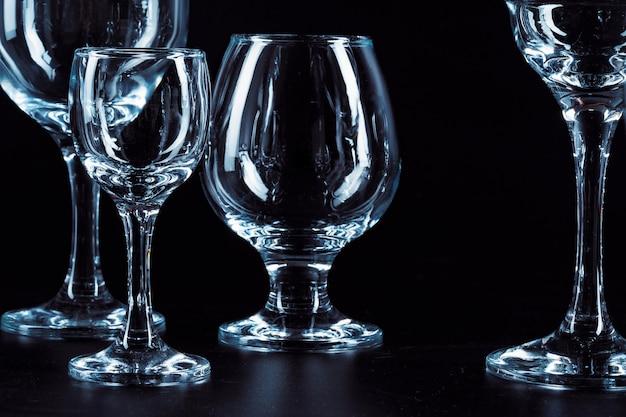Copos vazios para bebidas