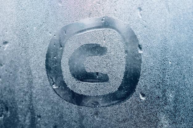 Copyright abstrato como símbolo de proteção dos direitos de propriedade