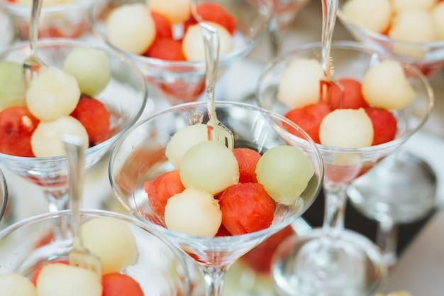 Coquetéis com frutas