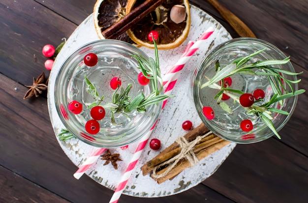 Coquetel com cranberry