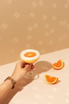 Coquetel de margarita de laranja fresca