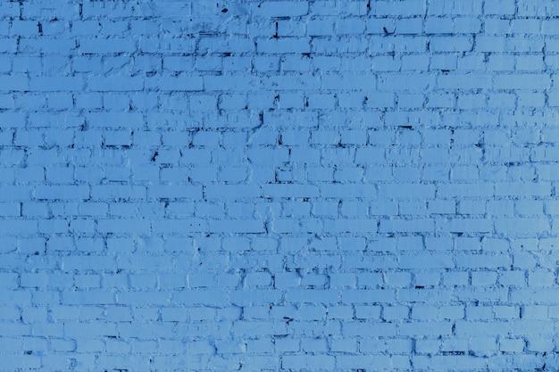 Cor azul da parede de tijolo