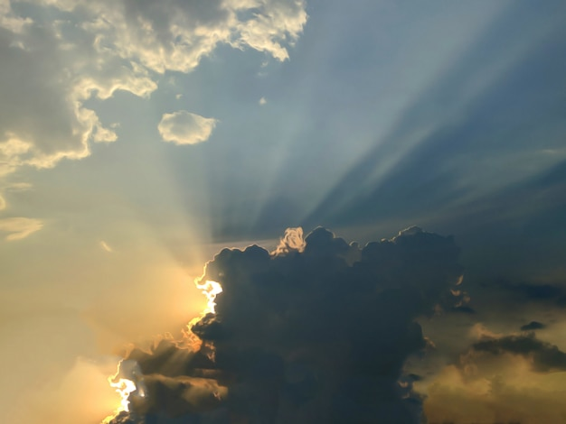 Cor bonita no pôr do sol
