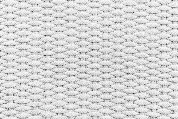 Cor branca e cinza da textura da corda e superfície para o fundo