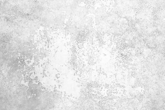 Cor branca e cinza de muro de concreto de grunge para fundo de textura