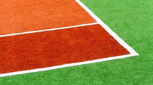 Cor cobertura de tênis de quadra de esportes.