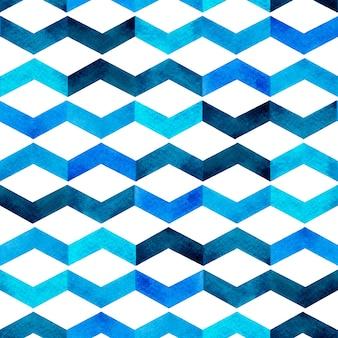 Cor da água pintando à mão o fundo sem emenda colorido de tom azul.