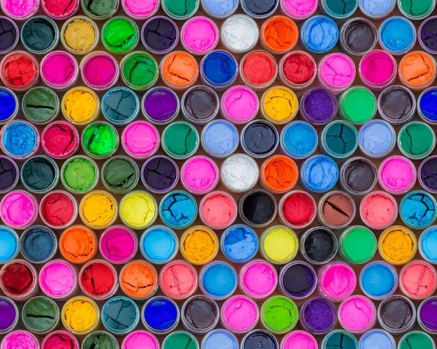 Cor de água colorida em garrafas quatro padrões sem emenda