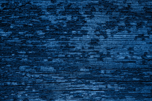Cor do ano 2020 - classic blue. textura de madeira