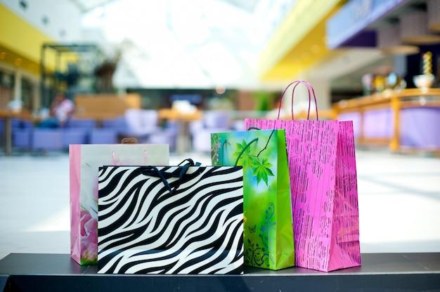 Cor do saco de compras