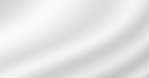 Cor gradiente branco abstrato seda ondulada suave como fundo de textura de tecido macio para design decorativo