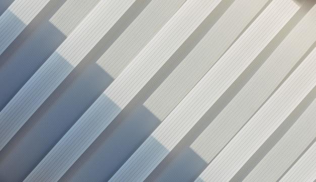 Cor gradiente de linhas diagonais geométricas abstratas brancas e cinza. padrão de repetição, textura de fundo, desenho de linhas listradas. copie o espaço. Foto Premium
