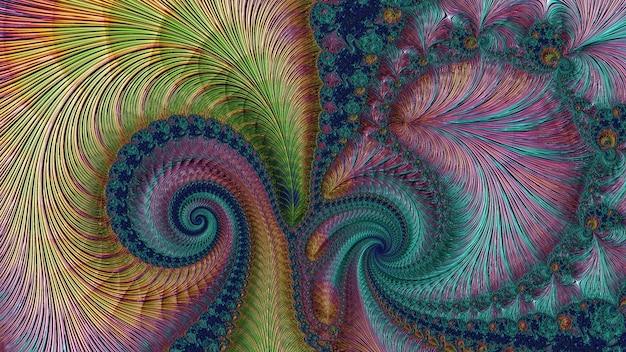 Cor incrível flor padrão de fundo fractal, diferentes formas e cores, elementos gráficos para design e decoração. 3d render