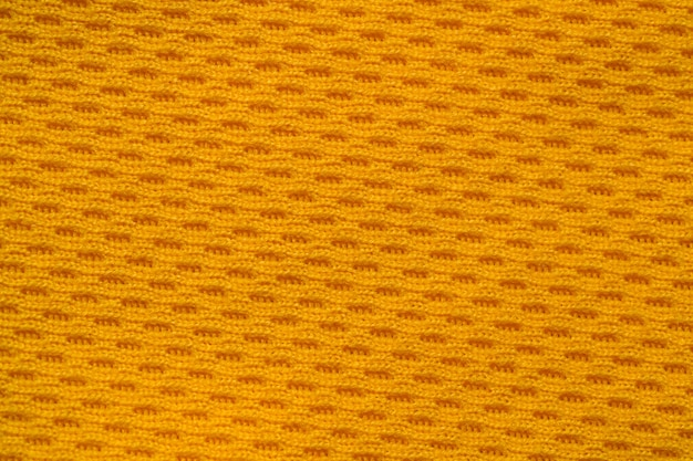 Cor laranja roupas esportivas tecido jersey futebol camisa textura vista superior