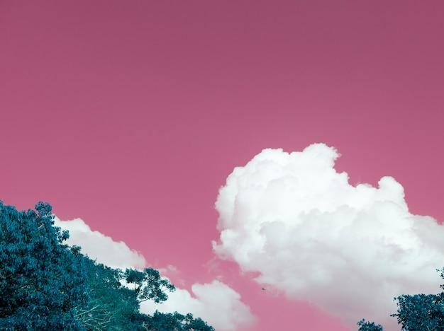 Cor negativa de uma paisagem de nuvens