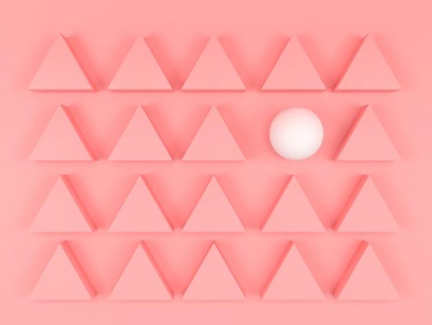 Cor pastel de forma geométrica abstrata. modelo de liderança de estilo moderno mínimo conceito diferente surreal de negócios. renderização 3d