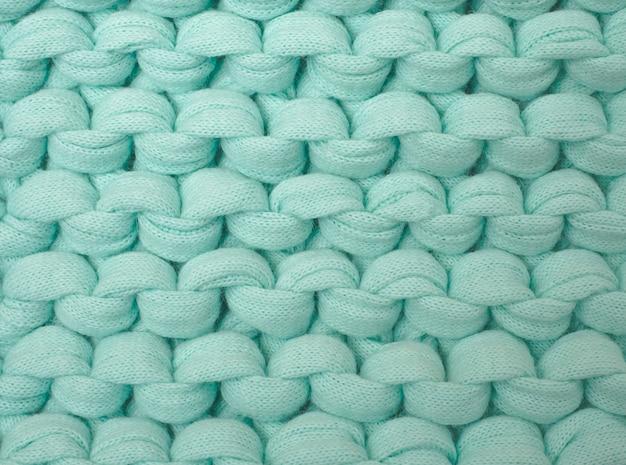 Cor turquesa de malha de fios grossos de algodão