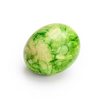Cor verde abstrata no ovo isolado
